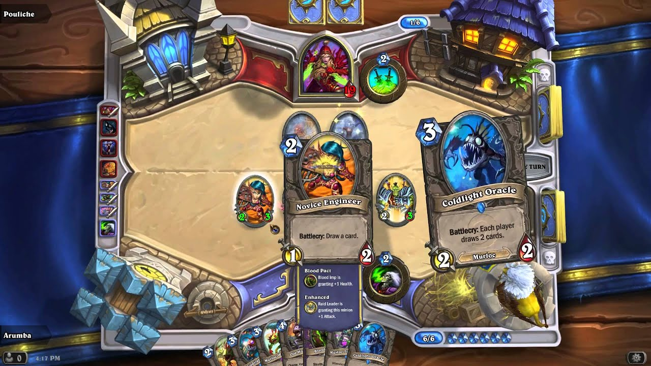Hearthstone warlock murloc rush 2 vs legendary deck and boogie2988
