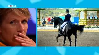 Emotional Anky van Grunsven looks at her performance - London 2012 Olympics