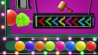 Learn Colors With Wooden Face Hammer Xylophone Hit Game Arcade With Color Balls HooplaKidz EP07