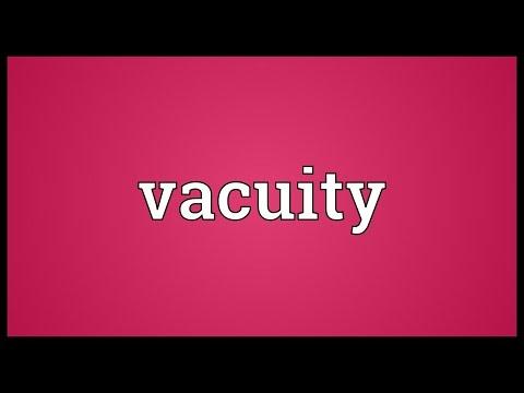Header of vacuity