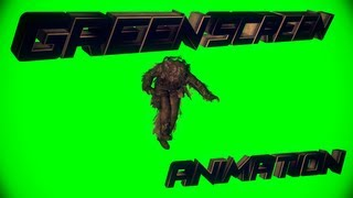 """ Superman animation"" .. And Ghillie Animation # Green Screen"