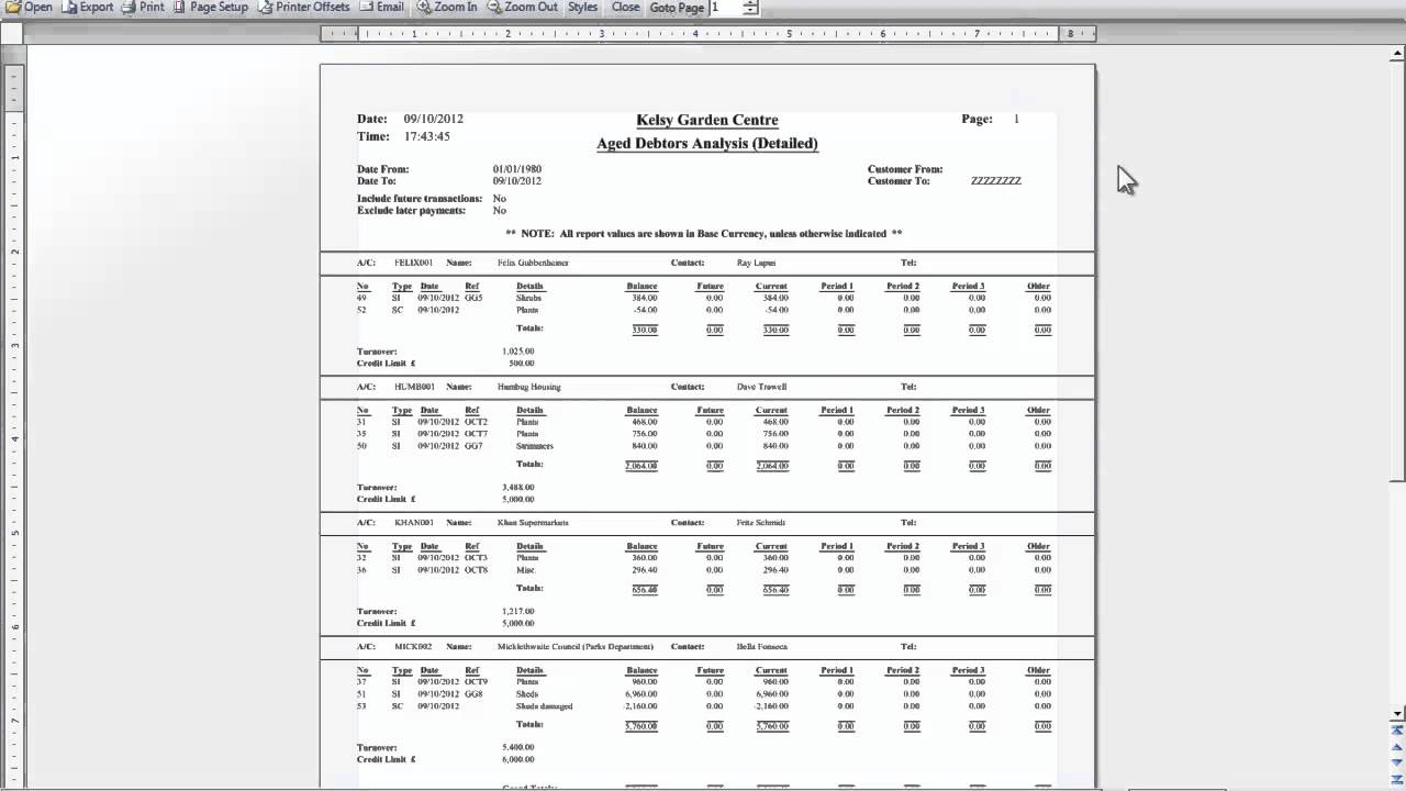 Sales Ledger Sales And Purchases Ledger