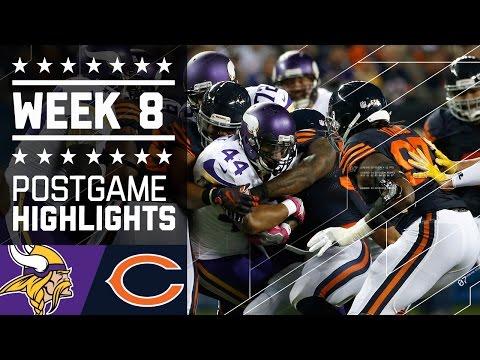 Vikings Vs Bears Nfl Week 8 Game Highlights