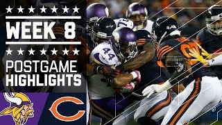Vikings vs. Bears (Week 8) | Game Highlights | NFL