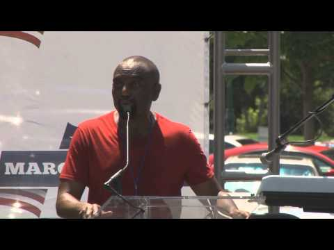 Rev. Jesse Lee Peterson at the DC March for Jobs