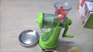 Review of fruits & vegetables juicer