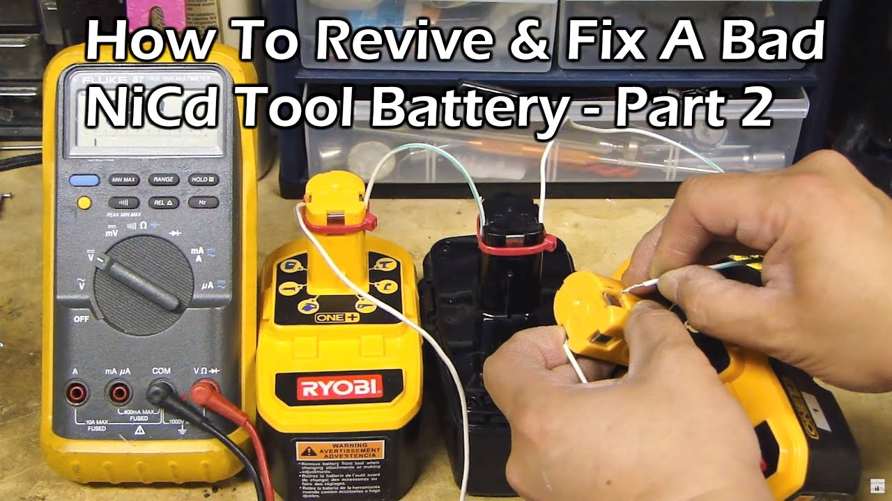 How to revive a ryobi battery