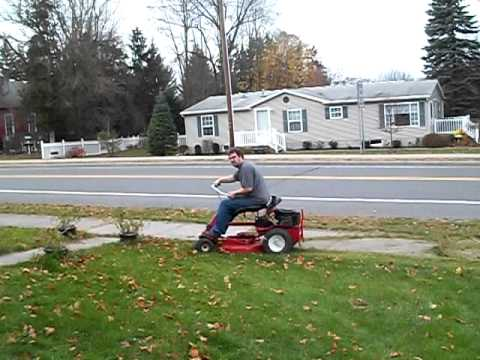 1975 to 78 snapper rear engine rider mowing test ran out of gas.avi