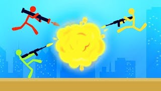 INTENSE EXPLOSIVE STICKMAN BATTLES! (Stick Fight)