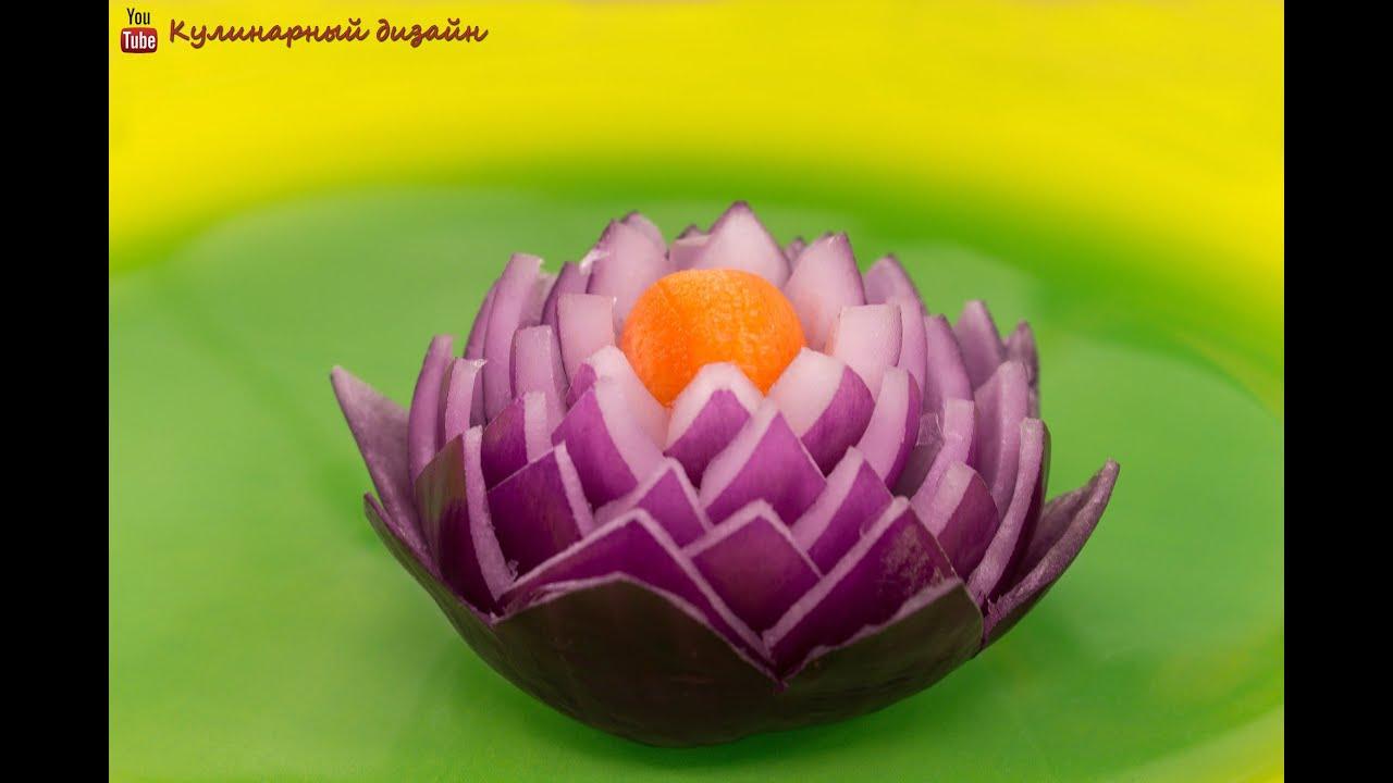 Как сделать цветок из лука пошагово