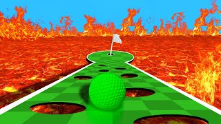 DODGE THE DEADLY LAVA HOLES! (Golf It)