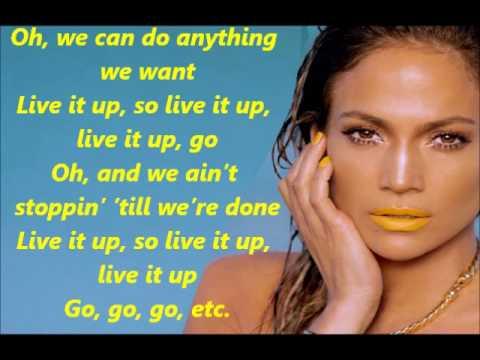 Jennifer Lopez Ft Pitbull Live It Up Lyrics video