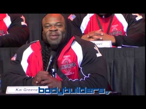 2014 Mr. Olympia Press Conference: Kai Greene vs. Phil Heath - Part 1