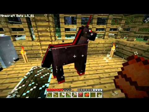 Minecraft Ep. 17: Monster Spawner/Trap & Gravity Staff Mod + Pegasus & Nightmare Unicorn