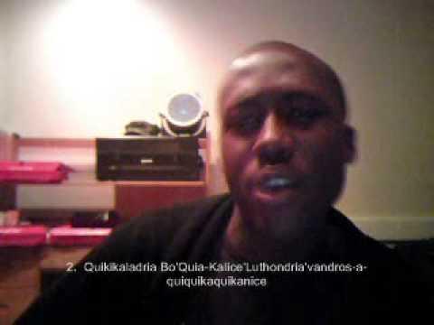 Top 30 Ghetto Black Names Video