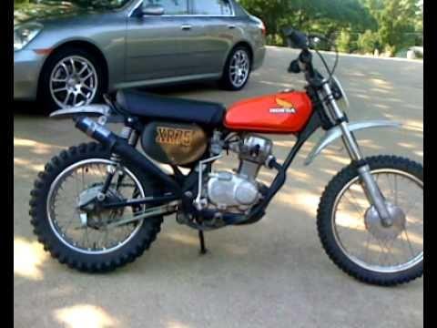 1975 Honda XR75 - YouTube