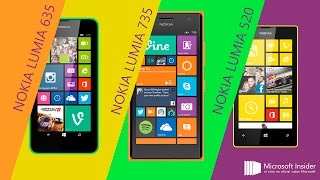 Comparativa Nokia Lumia 520 vs 630 vs 735