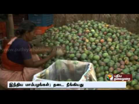 Ban on import of Indian Mangoes lifted