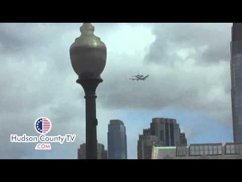 Enterprise Space Shuttle over the Hudson River