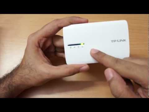 TP-LINK batt powered Wifi router review TL-MR3040