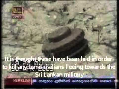 Tamil Tigers lay landmines & booby traps to kill fleeing Tamil civilians - Sri Lanka