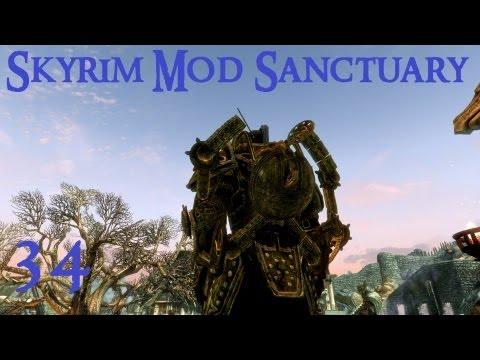 Skyrim Mod Sanctuary 34 - Dwemer Exoskeleton. Goggles. Scouter. Rifle. Autoblade. Condenser