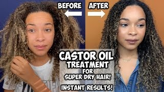 CASTOR OIL TREATMENT FOR SUPER DRY HAIR! | INSTANT RESULTS!