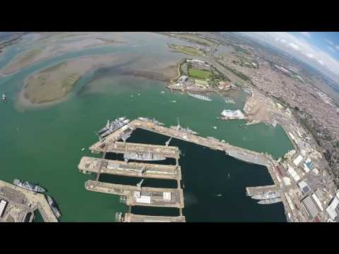 Royal Navy Parachute Display Team drop in on Portsmouth