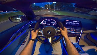 BMW 8 Series M850i Convertible NIGHT DRIVE POV w/ AMBIENT LIGHTING by AutoTopNL