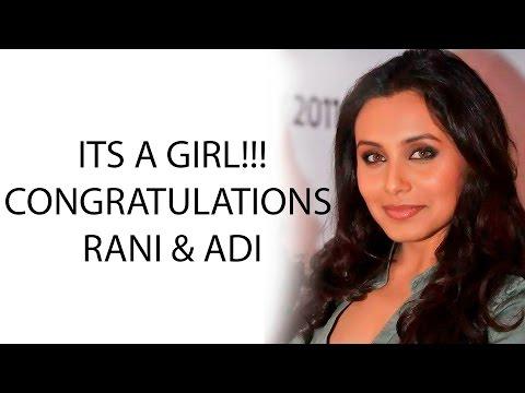 Rani Mukerji - Aditya Chopra welcome baby girl Adira