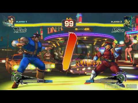 Super Street Fighter IV 'M.Bison vs T.Hawk Gameplay' TRUE-HD QUALITY Video