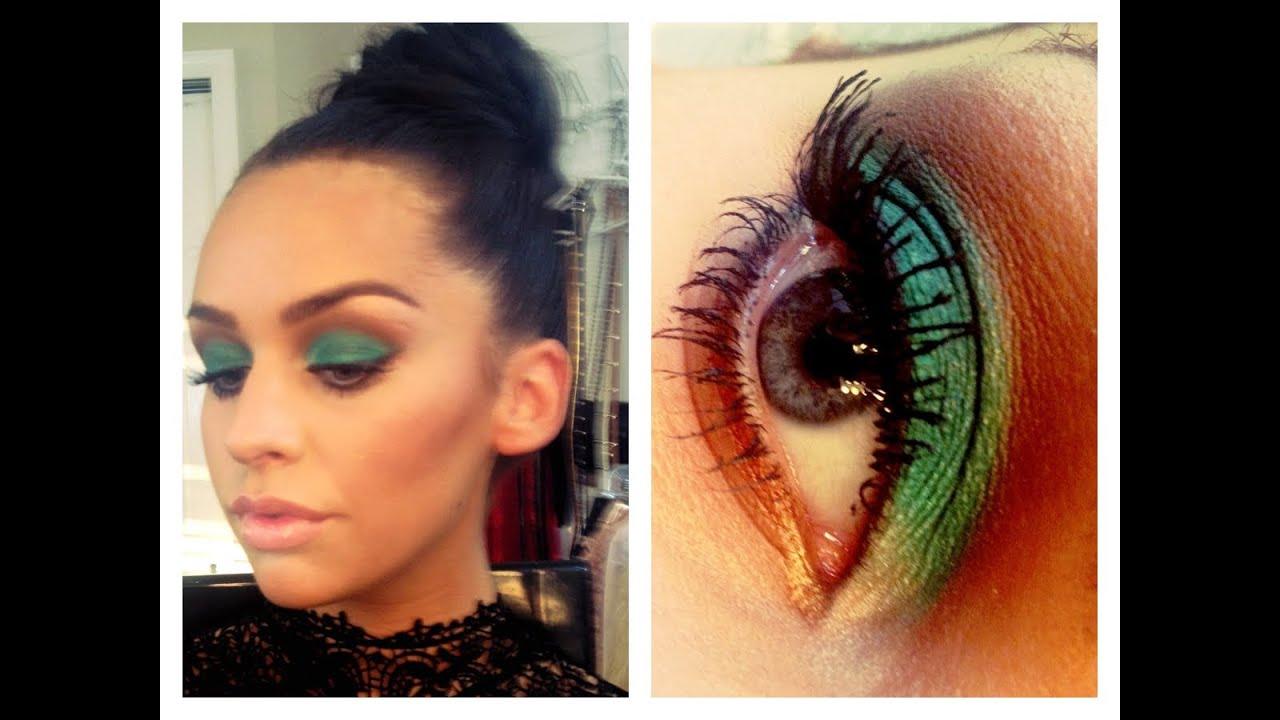 Smokey el verde esmeralda de los ojos Tutorial de maquillaje