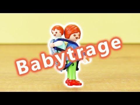 Playmobil deutsch Julian Vogel trägt Emma | Babytrage für den Rücken für Eltern & Geschwister | DIY