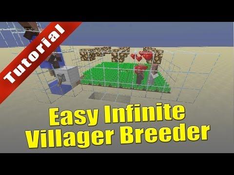 Minecraft (1.8) - Tutorial: Easy Infinite Villager Breeder