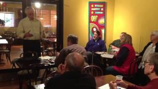 """MIG's """"Meet And Eat"""" Focus Group.  Richard Scarbrough, April 15, 2014."""