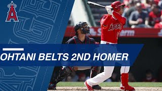 Ohtani homers in back-to-back games