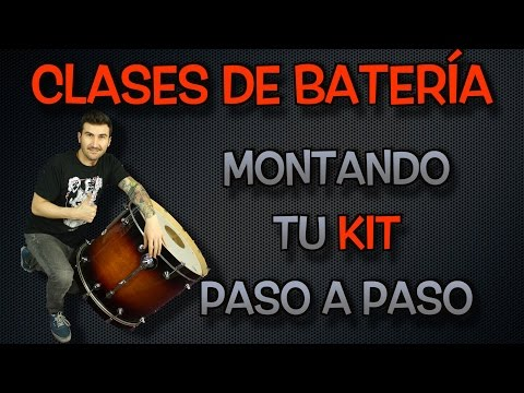 Clases de batería - Montando tu kit paso a paso