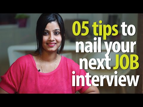 05 tips to nail your next job interview – Job Interview Skills ( English Lesson)