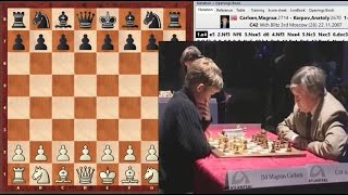 Юный Карлсен громит Карпова в русской партии! | Karpov beaten by Magnus Carlsen
