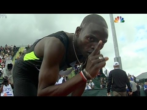 Abubaker Kaki battles tight finish with Aman in 800 at 2012 Pre Classic