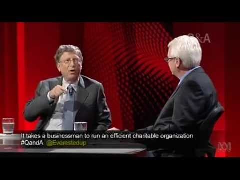 Bill Gates on Q&A - World Health Initiatives and Philanthropy - UNSW (Q and A with Tony Jones)
