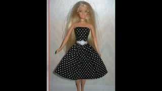 Как сшить платье для кукол барби без липучек 62