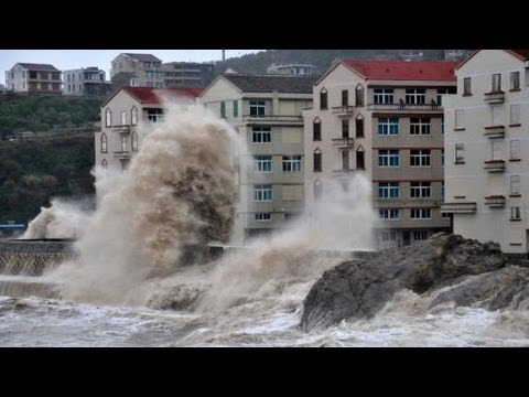 Typhoon Fitow hisses and causes massive flooding in Zhejiang Fujian province of China
