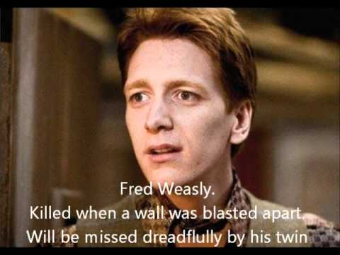Tribute to everyone who died in Harry Potter Music Videos