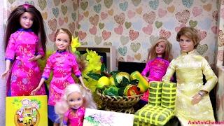 Tết Tết Tết đến rồi! Chị em Búp bê Barbie Ken chuẩn bị nhà cửa đón tết cổ truyền Việt Nam 2017