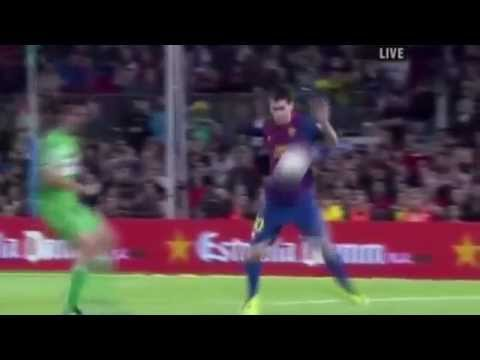 HD Lionel Messi AMAZING CONTROL VS RACING SANTANDER 10/16/11 3-0