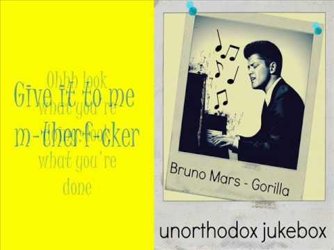 Bruno Mars - Gorilla (lyrics) video