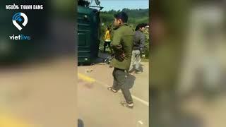 CSGT Đình Lập - Lạng Sơn rượt đuổi xe tải chở treo gây tai nạn nghiêm trọng