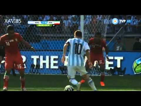 Gol de Messi a Iran ( relato de Alejandro Fantino)