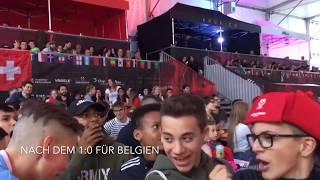 Belgien - Brasilien 2:1 - Impressionen aus der Vögele Arena Chur